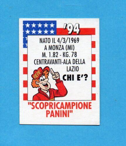 Figurina SCOPRICAMPIONE CENTR.ALA DELLA LAZIO PANINI CALCIATORI 1993//94 NEW