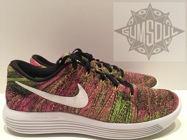 quality design 1b05c aa988 NIKE LUNAREPIC LOW FLYKNIT OC MULTI COLOR OLYMPIC PINK GREEN 844862 999 sz  12
