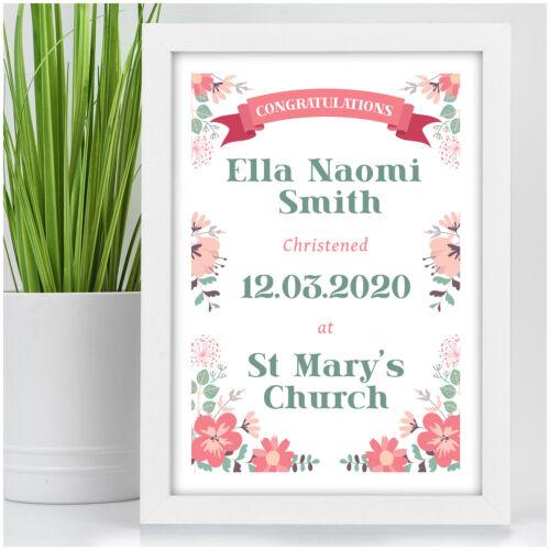 Personalised Christening Gifts for Girls Goddaughter Christening Print Keepsake