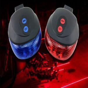 Fahrrad-2-Laser-5LED-Blinklicht-Lampe-hinten-Radfahren-MTB-Schwanz-Sicherheit-Nacht-Warnleuchte