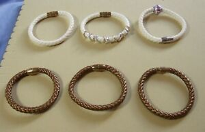 White-Grey-Brown-Leatherette-or-Black-Leather-Bracelets-with-Magnetic-Clasps