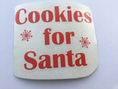 4 X Cookies For Santa Vinyl Decal Sticker For Plate Etc