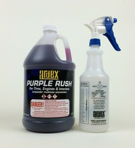 car detailing engine tire wheel cleaner ardex purple rush gal ebay. Black Bedroom Furniture Sets. Home Design Ideas