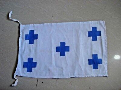 "100/% Cotton – Marine Code 15/"" X 15/"" Nautical // Boat Naval Signal Flag C"