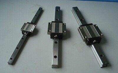 2 x HSR15CR--630mm Linear Rail with 4 HSR15CA Block Bearing