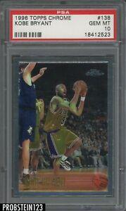 "1996-97 Topps Chrome #138 Kobe Bryant Lakers RC Rookie HOF PSA 10 "" PRISTINE """