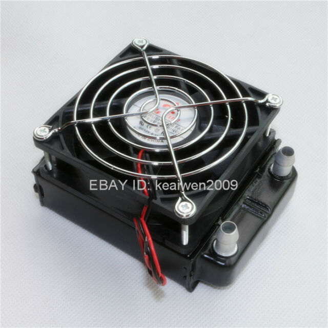 Aluminum Water Cooling Water cooled Row Heat exchanger Radiator w fan for CPU PC
