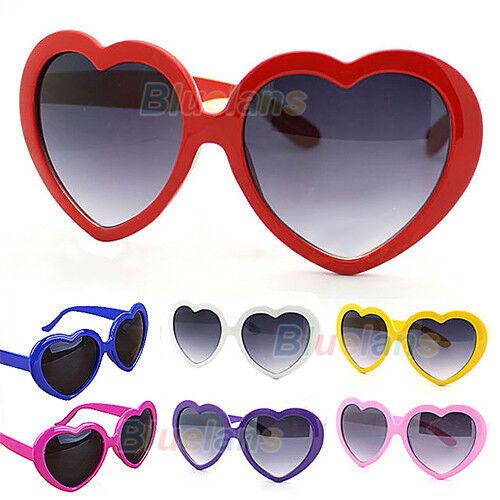 BF0U Retro Summer Heart Shape Design Lolita Sunglasses Eye Glasses Eyewear