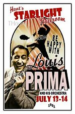 LOUIS PRIMA 1951 Starlight Ballroom Wildwood Art Rendition POSTER THouse 2016