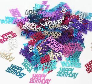 Image Is Loading 5 Happy Birthday Mix Multi Colour Table Confetti