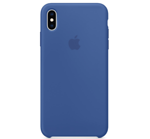 iPhone-XS-Max-Apple-Echt-Original-Silikon-Huelle-Silicone-Case-Delftblau