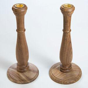 Kerzenleuchter-2-Stueck-Kerzenstaender-Kerzenhalter-Holz