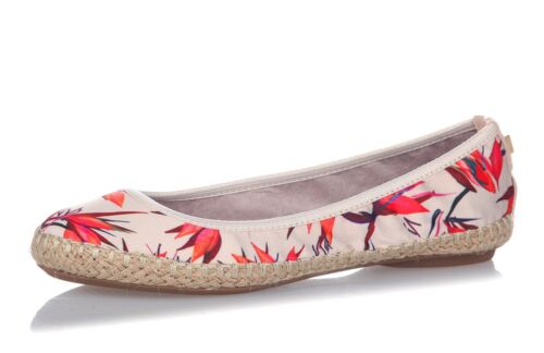 Butterfly Twists NEW Gigi cream birds of paradise floral ballet espadrille shoes