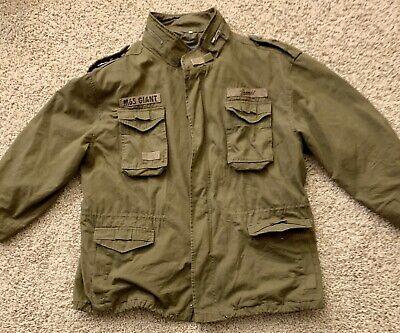 M65 Giant Field jacket Black Brandit Parka US Style Jacket with lining