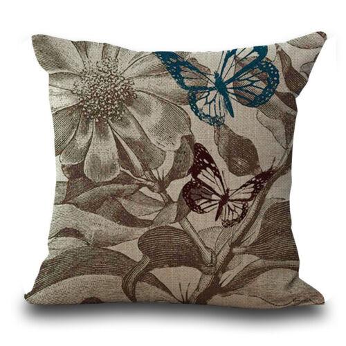 18/'/' Cotton Linen Home Decor Cat Pattern Square Throw Pillow Case Cushion Cover