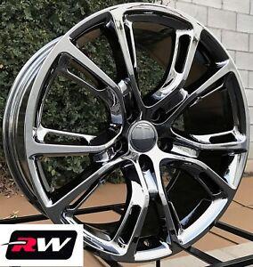 20 inch rw wheels for jeep grand cherokee 20x9 20x10 pvd dark chrome srt8 rims ebay. Black Bedroom Furniture Sets. Home Design Ideas