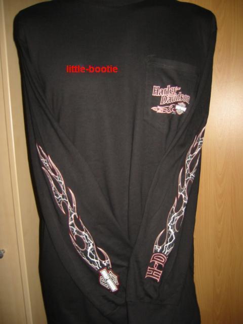 Harley-Davidson Langarm Shirt T-Shirt Herren schwarz Gr L NEU Rolling Lightning