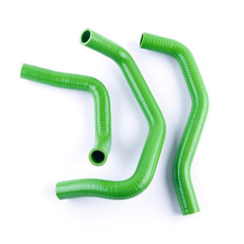 Green For KAWASAKI ZX6R NINJA 03-04 Silicone Coolant Radiator Heater Hoses Kit