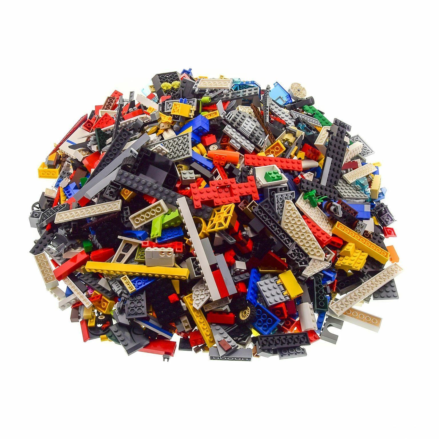 4 kg LEGO construction pierres environ 2800 pièces Couleuré Mélangé par exemple Roues Plaques Fenêtre