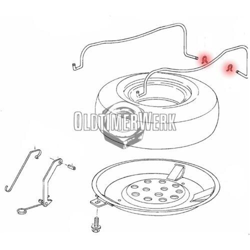 Parentesi di backup per serraggio staffa della ruota di scorta POZZETTO t3 OE Ref 251801921
