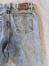 EDWIN true vintage acid wash made Japan high rise waist tapered jeans 34x34