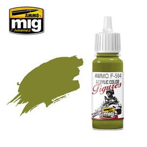 Ammo-of-Mig-A-MIG-F504-Yellow-Green-FS-34259-Peinture-Acrylique-17ml