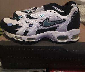 0481c83382 Nike Air Max 96 White Mystic Teal Black 7 8.5 OG Deadstock DS 104076 ...