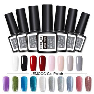 8ml-LEMOOC-Nagel-Gellack-Soak-off-Glitzern-Nail-Art-Gel-Polish-Gel-UV-Nagellack