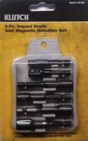 Klutch 6 Pc Impact Grade Sae Magnetic Nutsetter Set