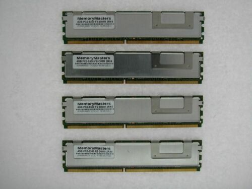 16GB 4x4GB PC2-5300F DDR2-667Mhz 240pin ECC Server Memory Fully Buffered FB-DIMM