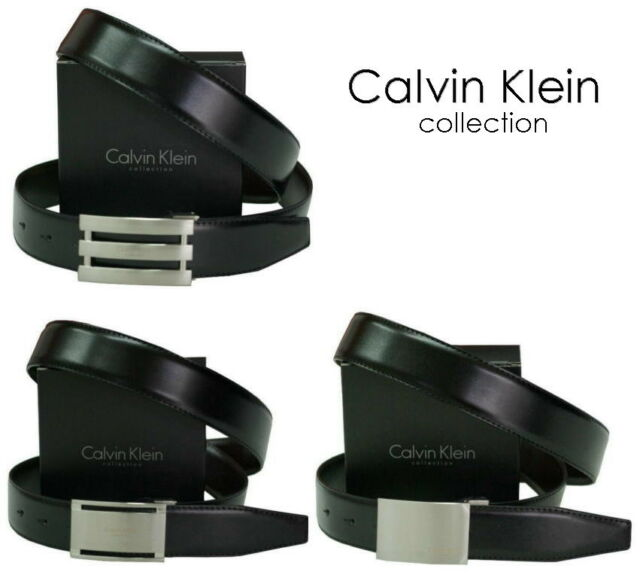 cintura-belt uomo CALVIN KLEIN collection - bicolore nero/marrone