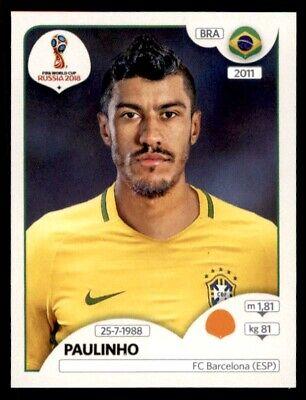 Paulinho Brasil Nº 350 Rosa atrás Panini WORLD CUP 2018