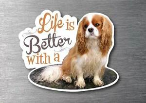Lifes better with a Cavalier King Charles Spaniel sticker pup breed dog w/proof
