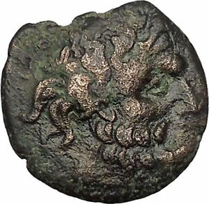 Odessos-in-Thrace-200BC-Ancient-Greek-Coin-Great-God-Heros-riding-Horse-i51683