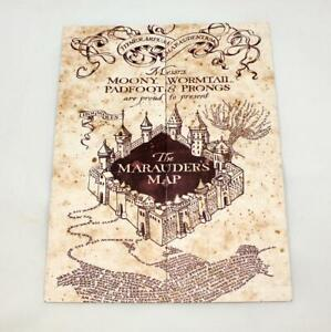 Details about Harry Potter The Marauder's Map Hogwarts of Witchcraft on secret s map harry potter, map in game of thrones, map harry potter books, fictional map harry potter,