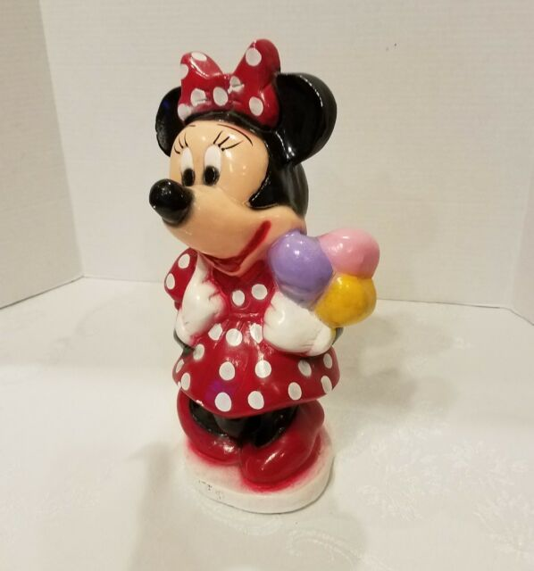limited Vintage Minnie Mouse Chalkware Figurine Coin Bank