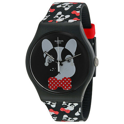 Swatch Andy Baby Black Dial Black Silicone Ladies Watch SUOB115