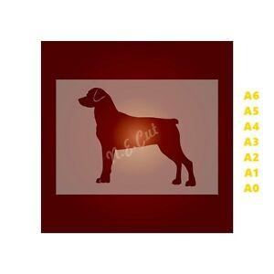 ROTTWEILER-Dog-Stencil-350-micron-Mylar-not-Hobby-stuff-DOGS095