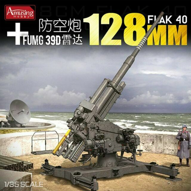 Amusing Hobby 35A020 12,8 cm Flak 40 with FuMG 39D LIMITED Edtion 1//35