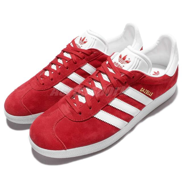 adidas Originals Gazalle Red White Mens Vintage Shoes Classic Sneakers S76228