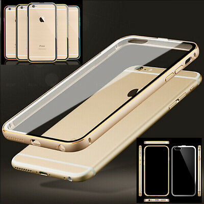 Aluminum Ultra-thin Metal Case Clear Back Cover Skin for iPhone 5 6 6+ Plus New