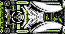 Kawasaki ZX10R Ninja 2011 Tank Knee Number Board Motografix 3D Gel Protector
