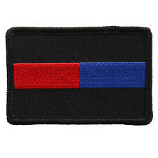 USA Fallen Police Firefighter Blue Red line iron on sew on Patch