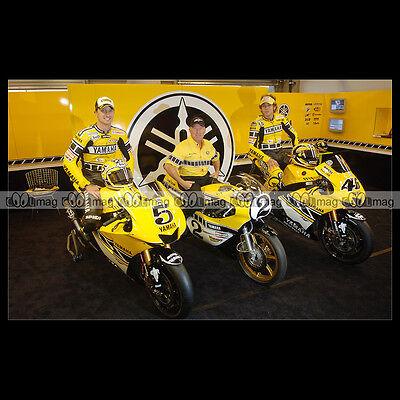 #phm.03616 Photo Colin Edwards, Kenny Roberts & Valentino Rossi Valencia 2005 Mo