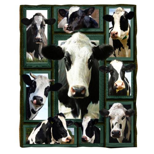 3D Cow Blanket丨Warm Sherpa Fleece Blanket丨Soft Sofa TV Blanket丨Bedding Blankets