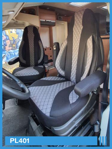 Misura Coprisedili Peugeot BOXER//JUMPER//DUCATO conducente /& passeggero ab BJ 2006 pl401