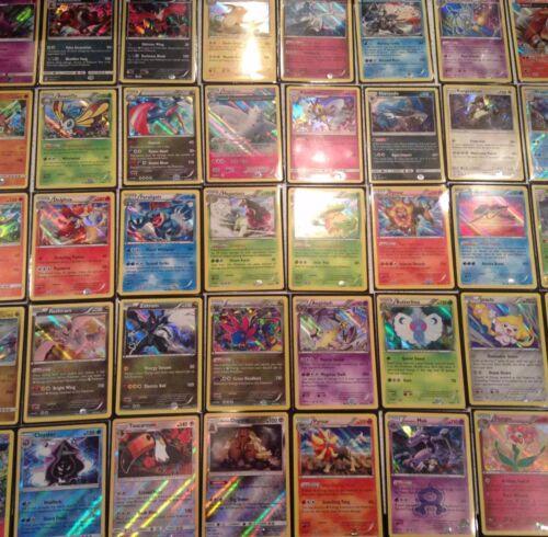 100 Pokemon card lot; 5 RARES and HOLOS including 2 GX//EX CARDS GUARANTEED!
