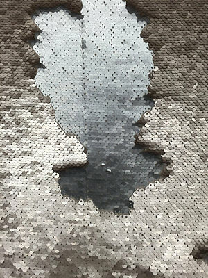 5mm two tone colors Flip-Up reversible Sequin matt silver amd matt champagne