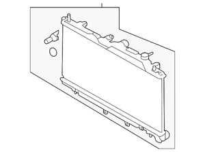 Genuine Subaru Radiator Assembly 45111AL04A