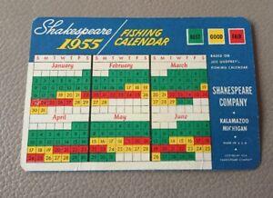 Calendario De Pesca.Detalles Acerca De 1955 Calendario De Pesca Shakespeare Erie Pennsylvania Mostrar Titulo Original